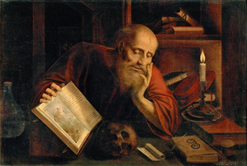 Saint Jerome, 1537. Found in the Collection of Art History Museum, Vienna. Saint Jerome spent time as a hermit. Getty Images